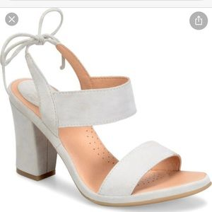 ONO Ebba Grey Suede Lace Up Block Heel Sandal 10